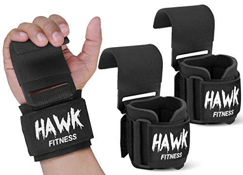 Weight Lifting Hooks Grips with Wrist Wraps & Straps Powerlifting Weightlifting Gloves Grip & Wrist Support for Deadlifts & Everyday Gym Workout