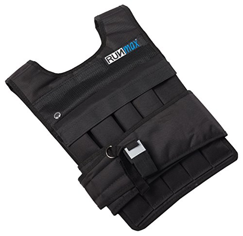 RUNFast rm40p RUNmax 12lb-140lb Weighted Vest (with Shoulder Pads, 40lb)