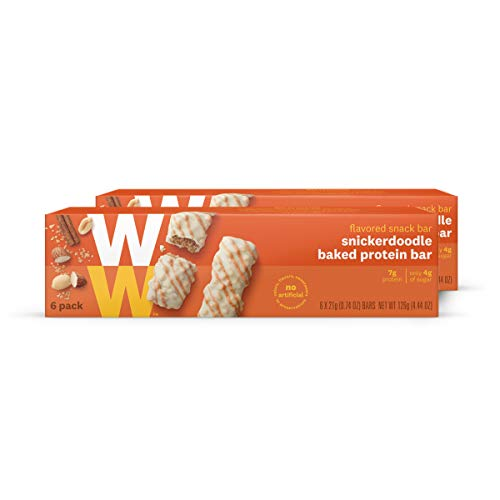 Discontinued: WW Snickerdoodle Baked Protein Bar - Cinnamon & Brown Sugar High Protein Snack Bar, 3 SmartPoints - 2 Boxes (12 Count Total) - Weight Watchers Reimagined