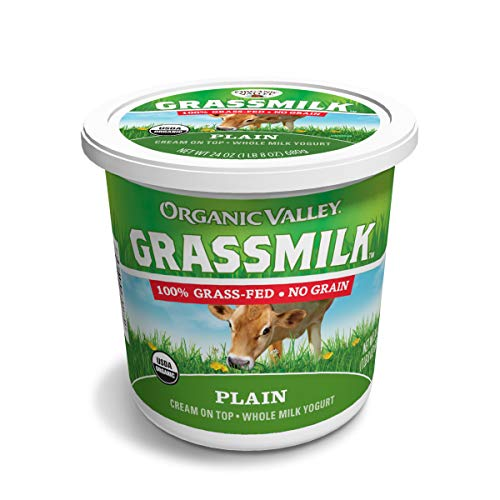 Organic Valley Grassmilk Whole Milk Yogurt, Plain, 24 Ounces