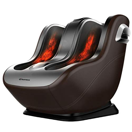 Foot Massager Machine, Shiatsu Calf and Foot Massage, Heat Function, Unique Sliding Rolling Combining Kneading Massage with Foot Scrapping, More Comfortable, FDA Certification