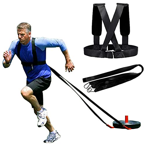 HORKEY Harness Workout Resistance and Assistance Trainer Physical Training Resistance Rope Kit Improving Speed, Stamina and Strength for Men and Women
