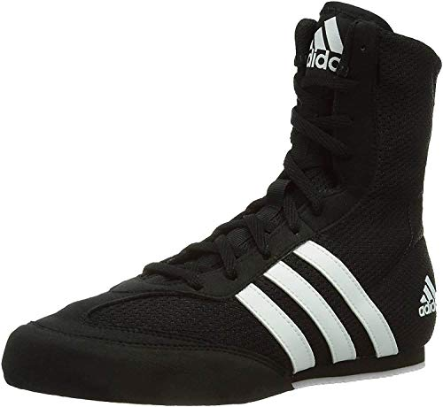 adidas Box HOG 2 Boxing Shoes - Black/White, Size US 10.5 - for Men & Women - for Combat Sports, Boxing, MMA & Gym