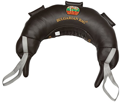 Bulgarian Bag Suples Original Model - Genuine Leather (37 lbs) - Free Instructional DVD Included! Fitness, Crossfit, Wrestling, Judo, Grappling, Functional Training, MMA, Sandbag