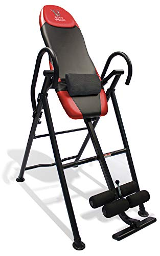 Body Vision IT9550 Deluxe Inversion Table with Adjustable Head Rest & Lumbar Support Pad, - Heavy Dutyup to 250 lbs., Red