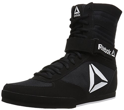 Reebok Women's Boot Boxing Shoe, Black/White, 8.5 M US