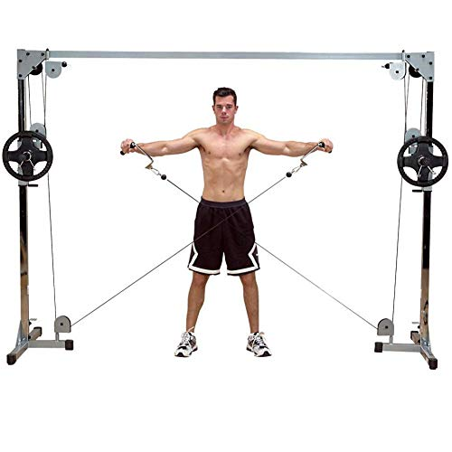 Body-Solid Powerline PCCO90X Cable Crossover Machine for Weightlifting, Bodybuilding, and Training Workouts, Black