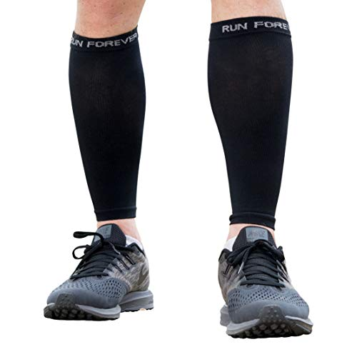 Calf Compression Sleeves - Leg Compression Socks for Runners, Shin Splint, Varicose Vein & Calf Pain Relief - Calf Guard Great for Running, Cycling, Maternity, Travel, Nurses (Black, Large)