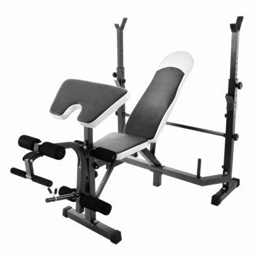 Popsport Weight Lifting Bench 440LBS Multi-Function Adjustable Weight Bench Inbuilt Leg Extensions Workout Bench for Home Fitness (440LBS)