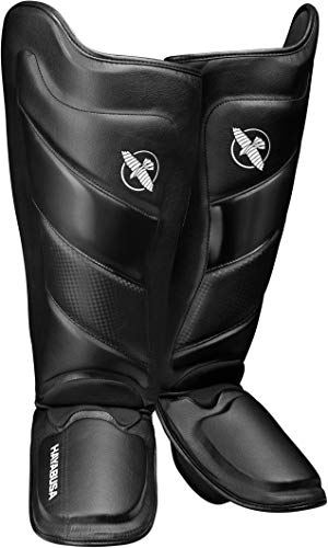 Hayabusa Shin Guards | T3 Muay Thai and Kickboxing | Men and Women | Black | Medium