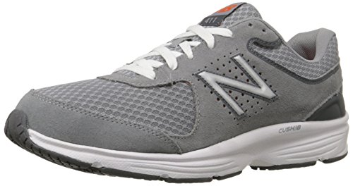 New Balance Men's 411 V2 Lace-Up Walking Shoe, Grey, 11 XW US