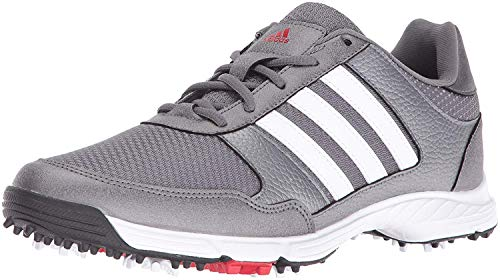 adidas Men's Tech Response Golf Shoe, Iron Metallic/White, 9 M US