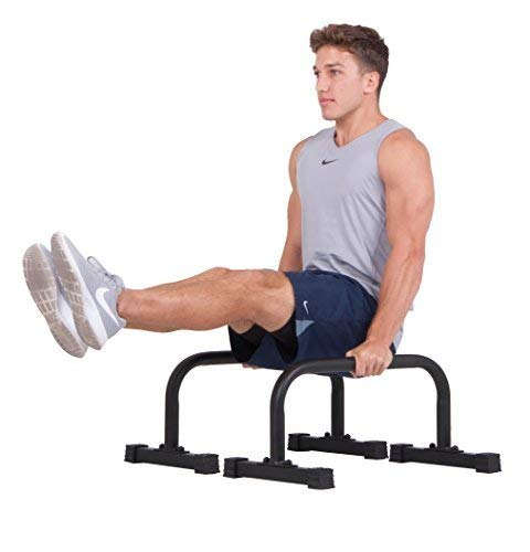 Body Power PL1000 Parallettes for HIIT, Yoga, Gymnastics