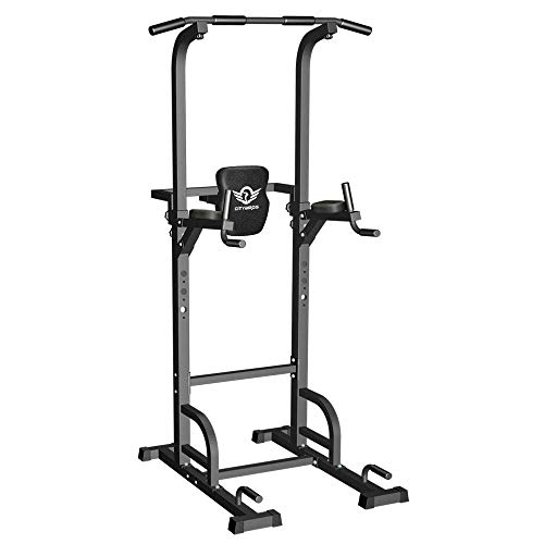 CITYBIRDS Power Tower Dip Station Pull Up Bar for Home Gym Strength Training Workout Equipment, 400LBS.