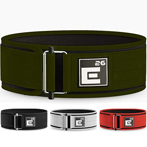 Element 26 Self-Locking Weight Lifting Belt | Premium Weightlifting Belt for Serious Functional Fitness, Weight Lifting, and Olympic Lifting Athletes| Lifting Belt for Men and Women (Medium, Green)
