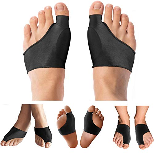 Copper Compression Bunion Corrector Relief Sleeve and Bunion Cushion Women & Men Guaranteed Highest Copper Bunion Pads Bootie Cushion Sleeves Relief Bunions Hallux Valgus Feet 1 Pair