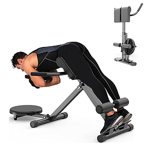 Roman chair 45 Degree Back Hyper Extension Bench/Back Trainer Waist T-wisting Machine Adjustable Height Ab Bench for Man Women Fitness doing Core Exercise at Home Gym