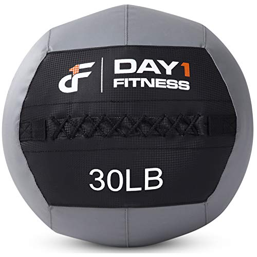 Day 1 Fitness Soft Wall Medicine Ball 30 Pounds - for Exercise,Rehab, Core Strength, Large Durable Balls for Floor Exercises, Stretching
