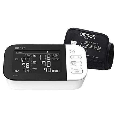 Omron Platinum Blood Pressure Monitor, Premium Upper Arm Cuff, Digital Bluetooth Blood Pressure Machine, Stores up to 200 Readings for Two Users (100 Readings Each)