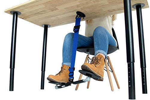 SITFLOW Under Desk Leg Swing - Sitting Exercise for Weight Loss, Increased Circulation, Burning Calories (Black and Blue)