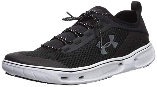 Under Armour Men's Kilchis Sneaker, Black (002)/White, 10