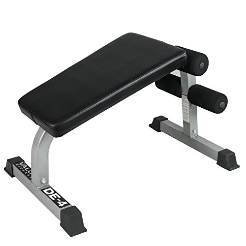 Valor Fitness DE-4 Sit Up Bench and Ab Crunch Board with Ergonomic Decline Position to Perform Decline Sit Ups, Crunches, and Other Core and Abdominal Exercises