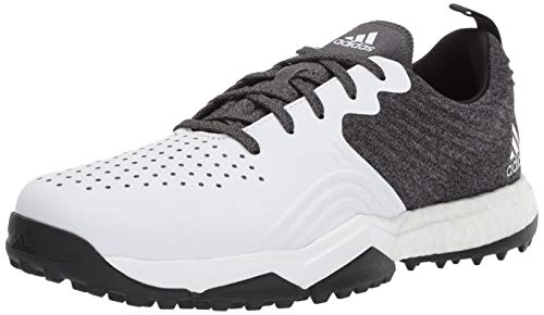adidas Men's Adipower 4ORGED S Golf Shoe, core Black/FTWR White/Silver Metallic, 12 M US