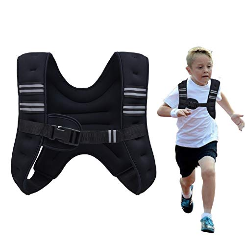 Z ZELUS Weighted Vest 20lbs./ 12lbs. Weight Vest with Reflective Stripe for Workout, Strength Training, Running, Fitness, Muscle Building, Weight Loss, Weightlifting (4lbs)