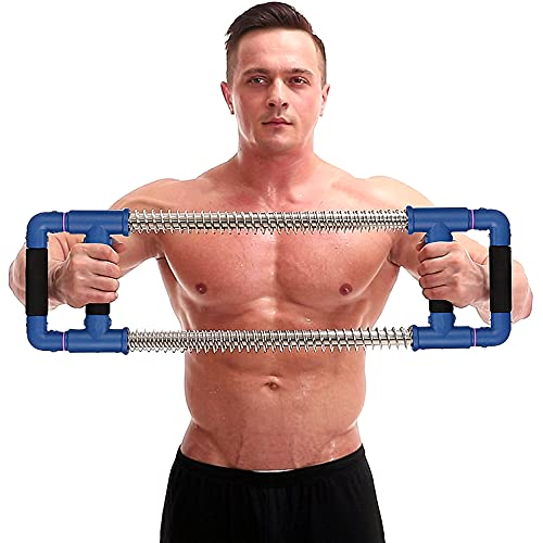 GOFITNESS Push Down Bar Machine - Chest Expander at Home Workout Equipment, Arm Exerciser Portable Spring Resistance Exercise Gym Kit for Home, Travel or Outdoors