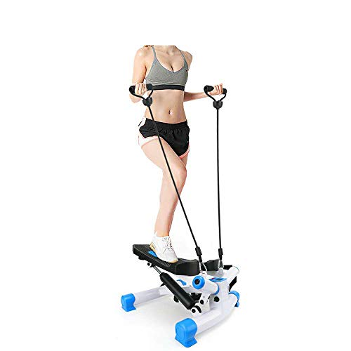 TOLOCO Stepper with Resistance Bands,Adjustable Mini Steppers for Exercise, Stair Stepping Fitness Equipment for Indoor