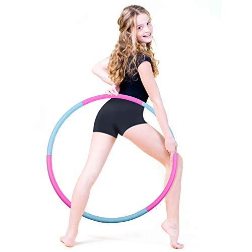 Liberry Kids Exercise Hoop, Detachable & Size Adjustable Toy Hoop, Professional Hoola Rings for Kids