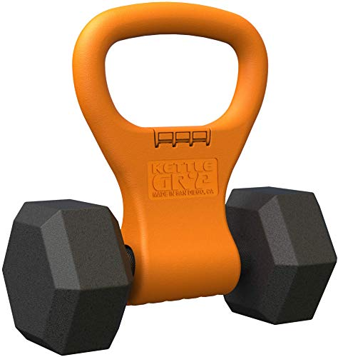 Kettle Gryp - Kettlebell Adjustable Portable Weight Grip Travel Workout Equipment Gear for Gym Bag, Crossfit WOD, Weightlifting, Bodybuilding, Lose Weight | Clamps to Dumbbells | Made in U.S.A.