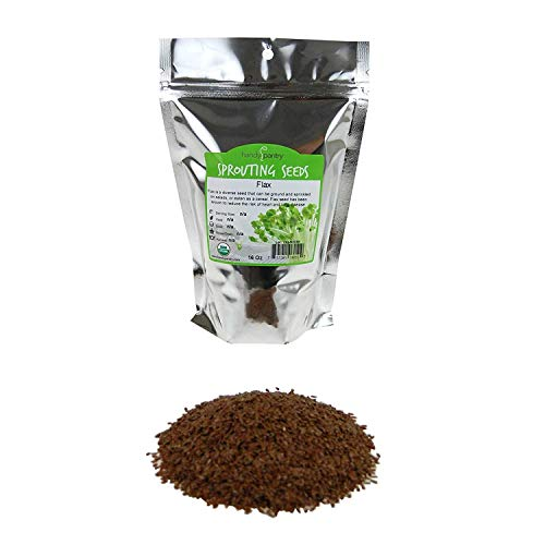 Organic Brown Flax Seeds - 1 Lb Resealable Bag - Canadian Flaxseeds - Flax Seed for Sprouting, Grinding, Omega Oils, Baking Product Name