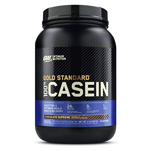 Optimum Nutrition Gold Standard 100% Micellar Casein Protein Powder, Slow Digesting, Helps Keep You Full, Overnight Muscle Recovery, Chocolate Supreme, 2 Pound (Packaging May Vary)
