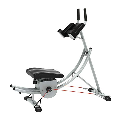 soges Indoor Ab Machine Core Ab Workout Fitness Equipment Vertical Height Adjustable Abdominal Trainer Ab Crunch Coaster for Home Gym Exercise Silver YKYN-ASM-Y