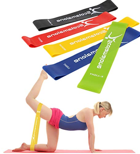 Resistance Bands Exercise Bands Workout Loop Bands Booty Bands for Legs and Butt, Yoga,Home ,Fitness, Stretching,Physical Therapy, Pilates Flexbands