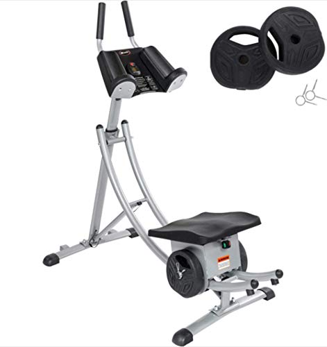 Abdominal Crunch Coaster 350lbs Capacity Ab Machine Foldable Exercise Equipment , Less Stress on Neck & Back, Abdominal/Core Fitness Equipment for Home Gym (Sliver)