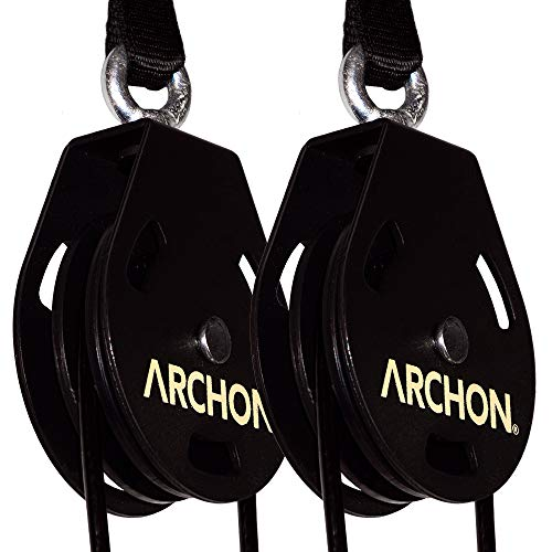 ARCHON Fitness Single Pulley Cable Station 70' Pair | Cable Machine | Pulley System | LAT Pull | Triceps Rope | Biceps Curl | Home Gym | Workout Accessories | Cable Crossover