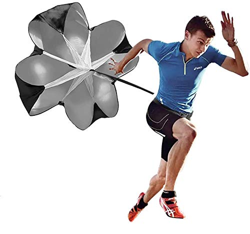 A2 Running Speed Chute - 48 Inch Resistance Parachute for Speed Training - Still Cool Running Speed Training for Kids Youth and Adults - Speed Chute Comes Complete with a Carrying Bag