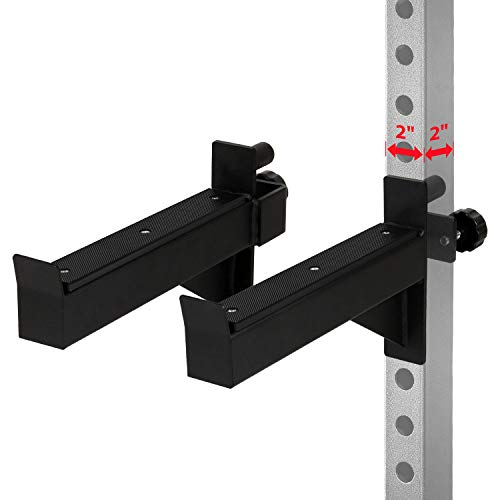 Yes4All Safety Spotter Arms for 2x2 Power Rack - Safety Squat Bar Extension, Lift Safety Fit 1' Tubing (Pair)