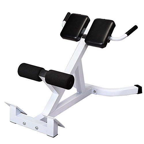 Adumly Size 45° Extension Hyperextension Back Exercise AB Bench Gym Abdominal Roman Chair