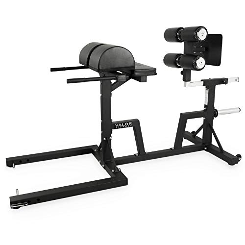 Valor Fitness CB-29 Adjustable Glute and Ham Developer (GHD) Machine for Hip and Back Extensions and GHD Sit Ups – Includes Band Pegs and Olympic Plate Storage