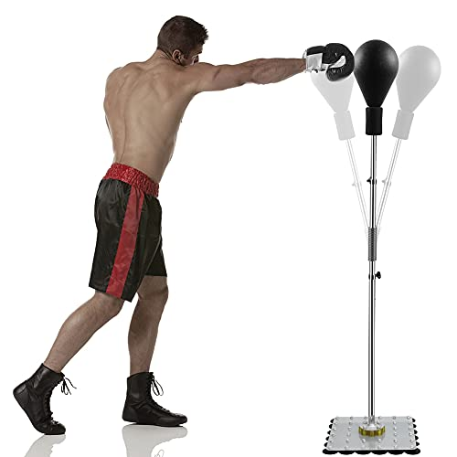 Reflex Bag Cobra Bag Freestanding Punching Bag with Stand, Speed Bags for Boxing, Large Steel Base with 32 Suction Cups
