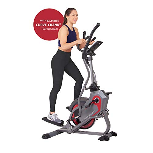 Body Power 2-in-1 Elliptical Stepper Trainer with Curve-Crank Technology