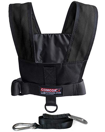 ComCor Max Sled Harness Vest - Made in USA (Black Adult to 50' Chest)