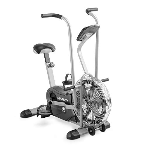 Marcy Exercise Upright Fan Bike for Cardio Training and Workout AIR-1 , black, 48.0' L x 25.0' W x 48.0' H