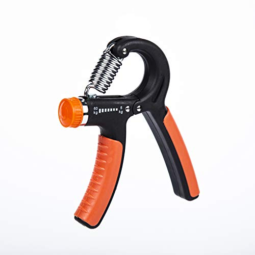 Hand Grip Strength Trainer, Adjustable Forearm Strengthener Exerciser, Finger Resistance Gripper for Workout, Exercise, Fitness, Recovery( 11-132lbs ),Comes with An Extra Grip Ring (blackred)