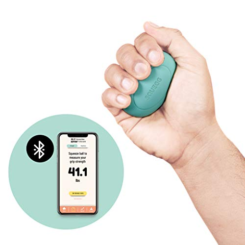 SQUEGG Digital Dynamometer | Hand Grip Strength Tester Up to 220 Lbs/100 Kg with Bluetooth Pairing | Forearm Workout | Exerciser Strengtheners | Gripper | Squeezer | Strengthening Equipment | Mint
