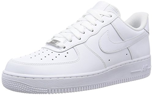 Nike Men's NIKE AIR FORCE 1 '07 BASKETBALL SHOES 13 (WHITE/WHITE )
