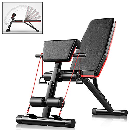 CANMALCHI Adjustable Workout Bench Sit Up Bench, Incline Decline Weight Bench for Home Gym Exercises, Full Body Workout 4in1 Multifunctional Fitness Bench